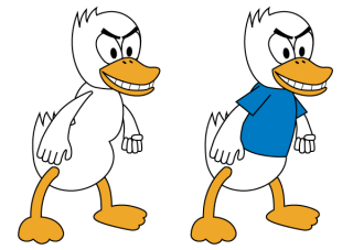 Fighting Duck Vector Art