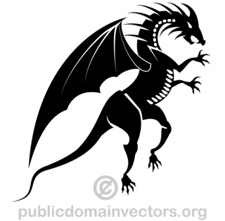 Dragon Silhouette Vector