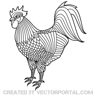 Rooster Vector Clipart
