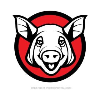 Pig Head Vector Art