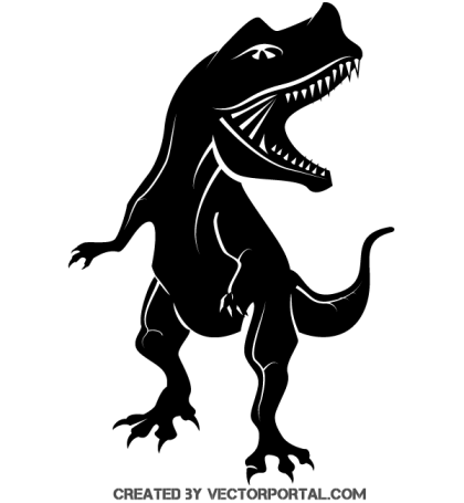 Free Dinosaur Silhouette Vector Clipart
