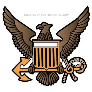 Eagle Crest Emblem Free Vector