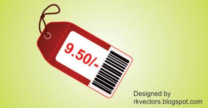 Red Price Tag vector