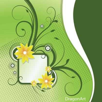 Floral frame Vector background