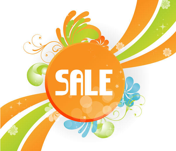 Floral Sale Sign Free Vector