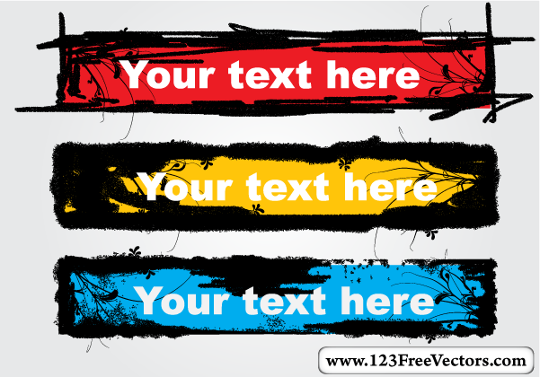 Grunge Text Banner