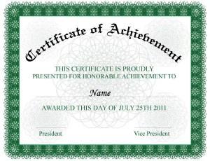 Certificate of Achievement Vector Illustration