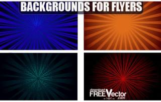 Free Vector Backgrounds for Flyers