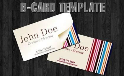 Free B-card Template