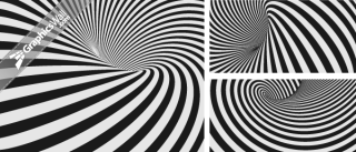 Abstract Spiral Striped Backgrounds
