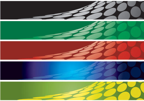 Abstract Banner Background Set 3