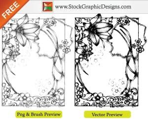 Sketchy Hand Drawn Free Vector Frames Illustration