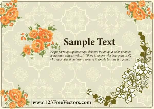 Flower Wedding Invitation Card