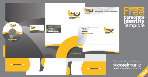Free Corporate Identity Template Vector