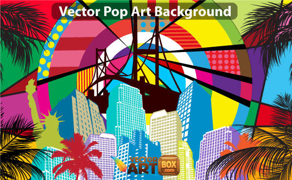 Free Pop Art Background Vector