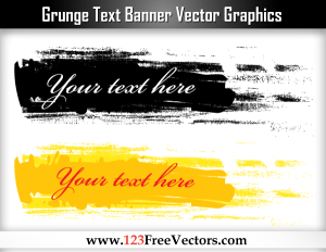Grunge Text Banner Vector Graphics