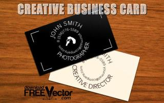 Creative Business Card Template Vector