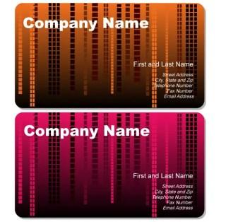 Abstract Rain Business Card Vector
