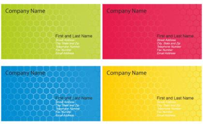 Business Card Design Templates Vector
