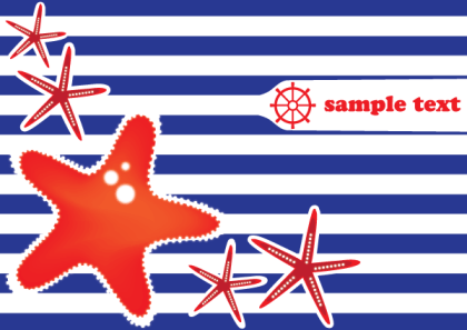Free Vector Greeting Card Design with Starfish