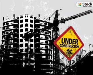 Free Vector Buildings Under Construction