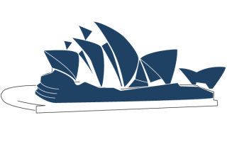 Sydney Opera House Line Art Vector