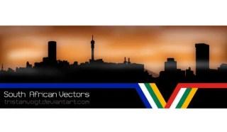 Vector Johannesburg Skyline Silhouettes