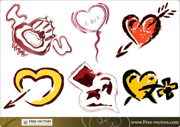Free Vector Heart with Arrows