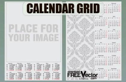 Free Vector Calendar Grid Template