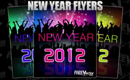 New Year Flyer in Vector