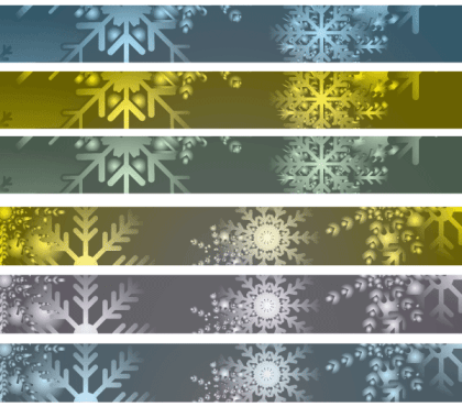Snowflakes Banner Vector