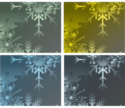 Snowflakes Banner Illustration