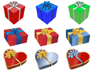 Free Vector Gift Presents