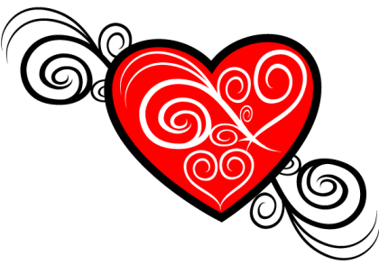Heart Vector Image Tribal Style