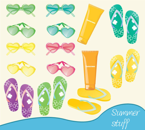Summer Fun Stuff Vector