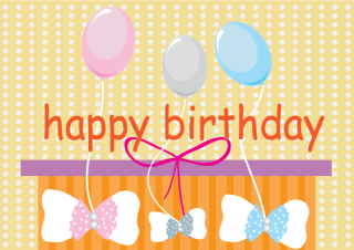 Free Vector Happy Birthday Card with Balloons