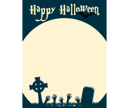 Happy Halloween Card Vector Illustration