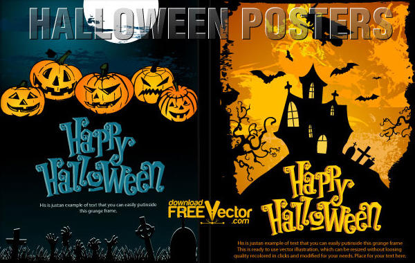 free halloween poster templates