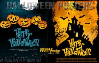 Vector Halloween Poster Template