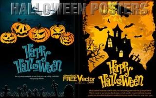 Vector Halloween Poster Template