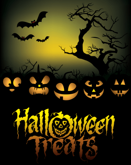 Free Halloween Treats Poster Vector Graphics