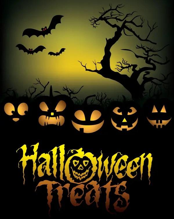 Free Halloween Treats Poster Vector Graphics