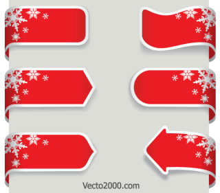 Christmas Ribbon Banner Vector