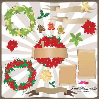 Christmas Decoration Vector Free Download