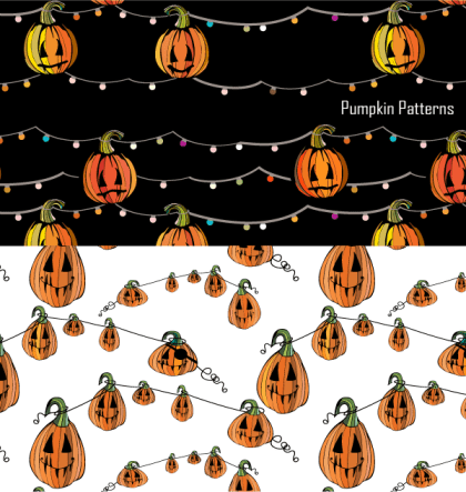 Free Halloween Pumpkin Pattern for Vector and Photoshop