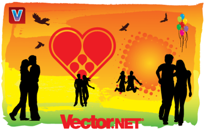 """""""Love is in the Air"""" Vector Art"""