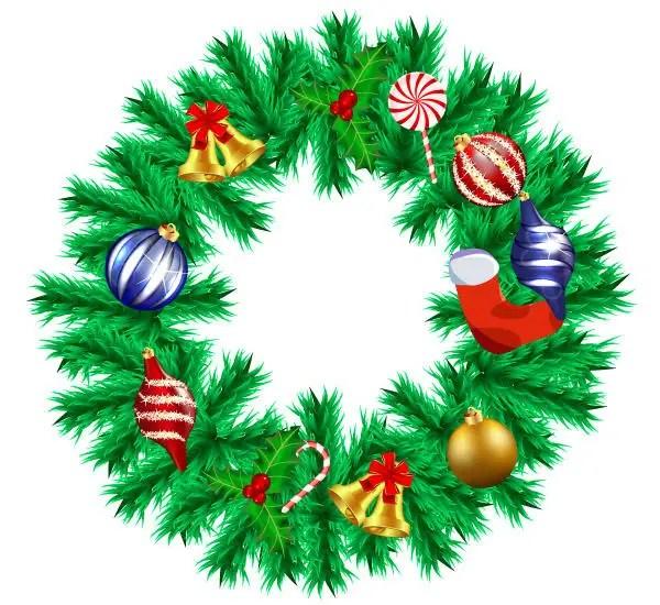 Free Vector Christmas Garland