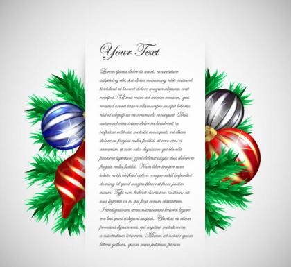 Free Christmas Greeting Card Template Vector