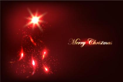 Red Glow Christmas Background Vector