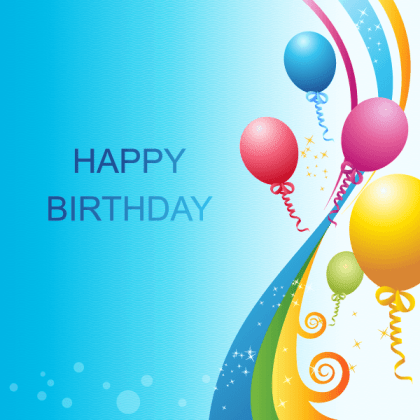 Happy Birthday Background Vector Template